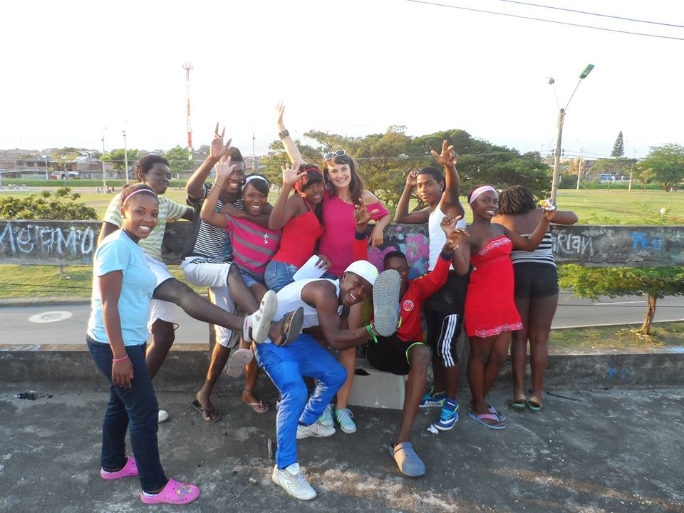 One of the English groups in Cali - youth from House 6 in the Aguablanca zone, with primarily black population and very high rates of extreme poverty, unemployment and delinquency